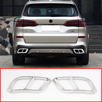 2pcs Chrome Stainless Steel Car Exhaust Pipe Cover Trim For BMW X5 2019 Year Model Accessories