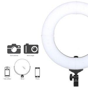 Image 3 - ZOMEI 14 אינץ Dimmable LED טבעת אור טלפון מחזיק מצלמה תמונה וידאו תאורת ערכת איפור Smartphone Youtube וידאו ירי