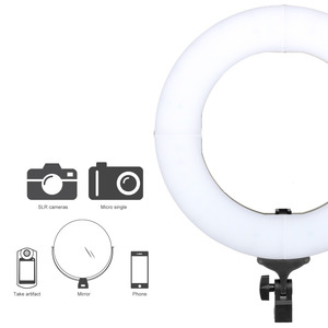 Image 3 - ZOMEI 14 inch Dimmable LED Ring Light Phone Holder Camera Photo Video Lighting Kit for Makeup Smartphone Youtube Video Shooting