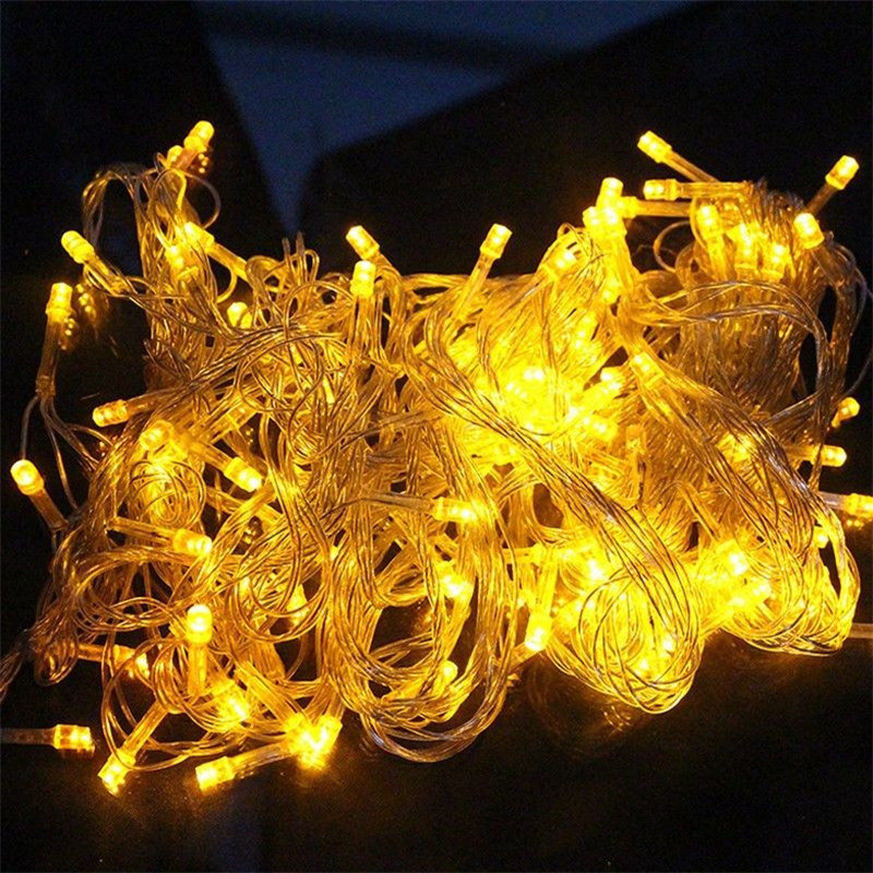 10M 100 LED Strip Light Home Outdoor Holiday Christmas Decorative Wedding Xmas String Fairy Garlands Strip Party Lights EU 220V