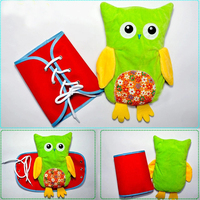 4Pcs Owl Learning Dolls Zipper Lacing Toys Learn to Wear Busy Board Montessori Life Skill Bizybord Children Educational Toys