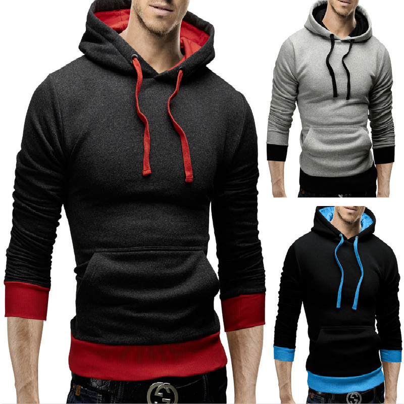 New fashion clothes with hat casual men's Hoodies cotton men sweatshirt Clothing hoodie hoody