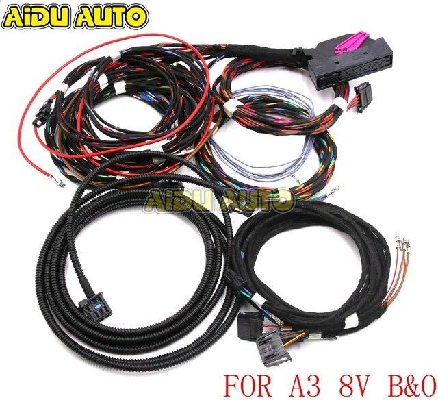 Adaptateur de mise à niveau, câble de câblage pour Audi A3, 8V Bang & Olufsen, haut parleurs Audio et système B et O