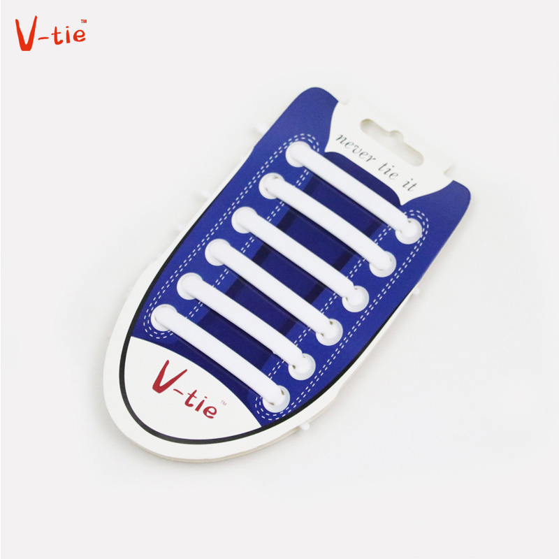 Suit 1-50 Sets Solid White Arrow-shaped Creative Flexible Silicone Lazy Creative No Tie Shoelaces Elastic Silicone Shoes Laces silicone jigsaw pattern cover creative notebook red white green purple