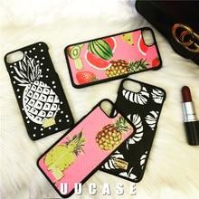 Европа и Соединенные Штаты прилив бренд ананас нейтральный для iPhone 7 плюс мобильный телефон Shell листья 6S кожа обувь для мужчин и женщин TID