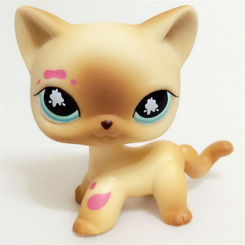 pet shop CAT toys kitty #816 figure Short Hair kitten lps pet shop toys rare black little cat blue eyes animal models patrulla canina action figures kids toys gift cat free shipping