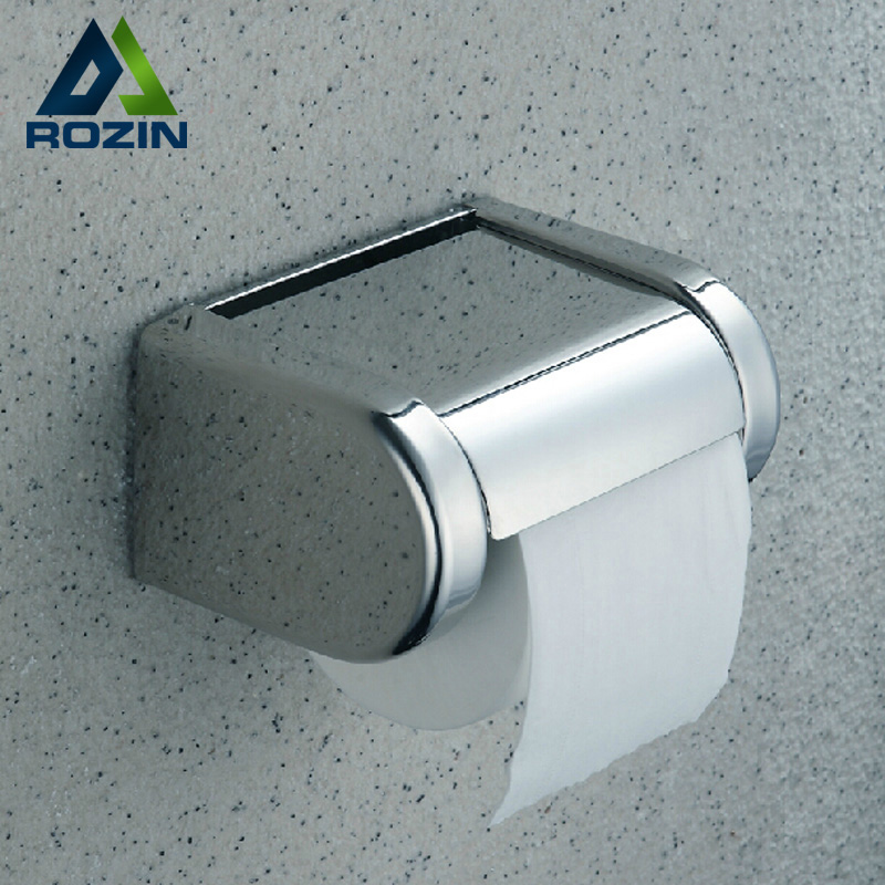 Free Shipping Durable Stainless Steel Toilet Paper Holder Tissue Holder Roll Paper Holder Box Bathroom Accessories free shipping jade & brass golden paper box roll holder toilet gold paper holder tissue box bathroom accessories page 9
