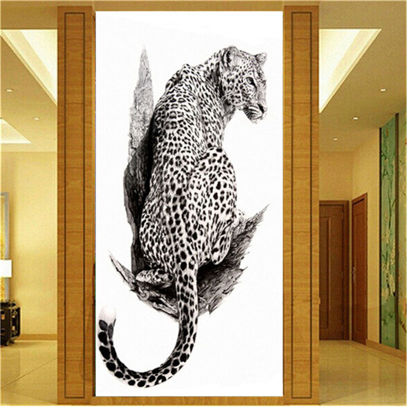 5D DIY Diamond embroidery Leopard pictures backdrop Home Decor Fully Resin round rhinestone needlework Animals Painting