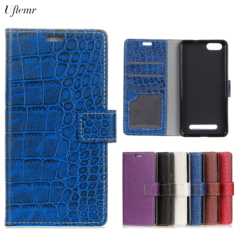 Uftemr Vintage Crocodile PU Leather Cover For Doogee X20 Protective Silicone Case Wallet Card Slot Phone Acessories
