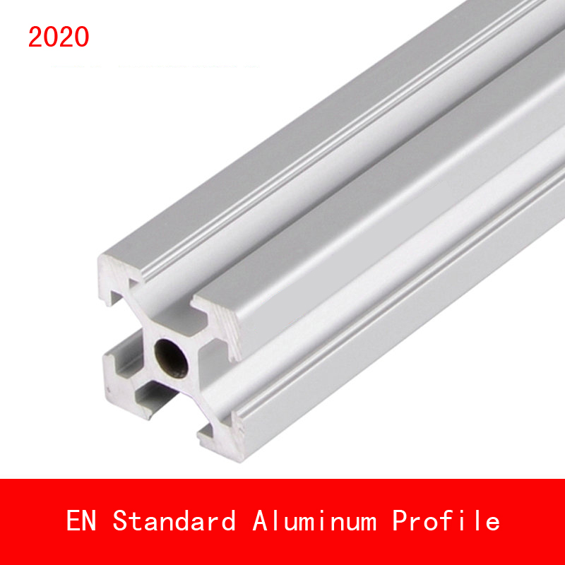 2020 Aluminium Profile V Slot Rail AL EN Standard DIY Bracket Table Holder Metal 3D Printer Parts Anodized Linear Rail OX CNC