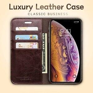 Image 3 - Estuches de cuero de lujo Musubo para iphone 11 XS Max cartera teléfono bolsa soporte Funda abatible para iphone XR 8 funda protectora Plus 7 6