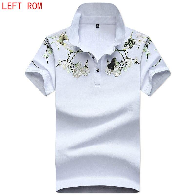 2018 Summer Fashion Mens   Polo   Shirt Short Sleeve printing Pattern Slim Shirt For Men   Polo   Shirts Camisa   Polo   Masculina Big Size