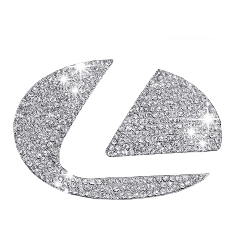* DSYCAR Zinc alloy Steering wheel decoration sticker logo Emblem Badge Car styling Modification for Lexus es/es200 nx/nx200 rx stylish zinc alloy dragon car decoration sticker white silver 2 pcs