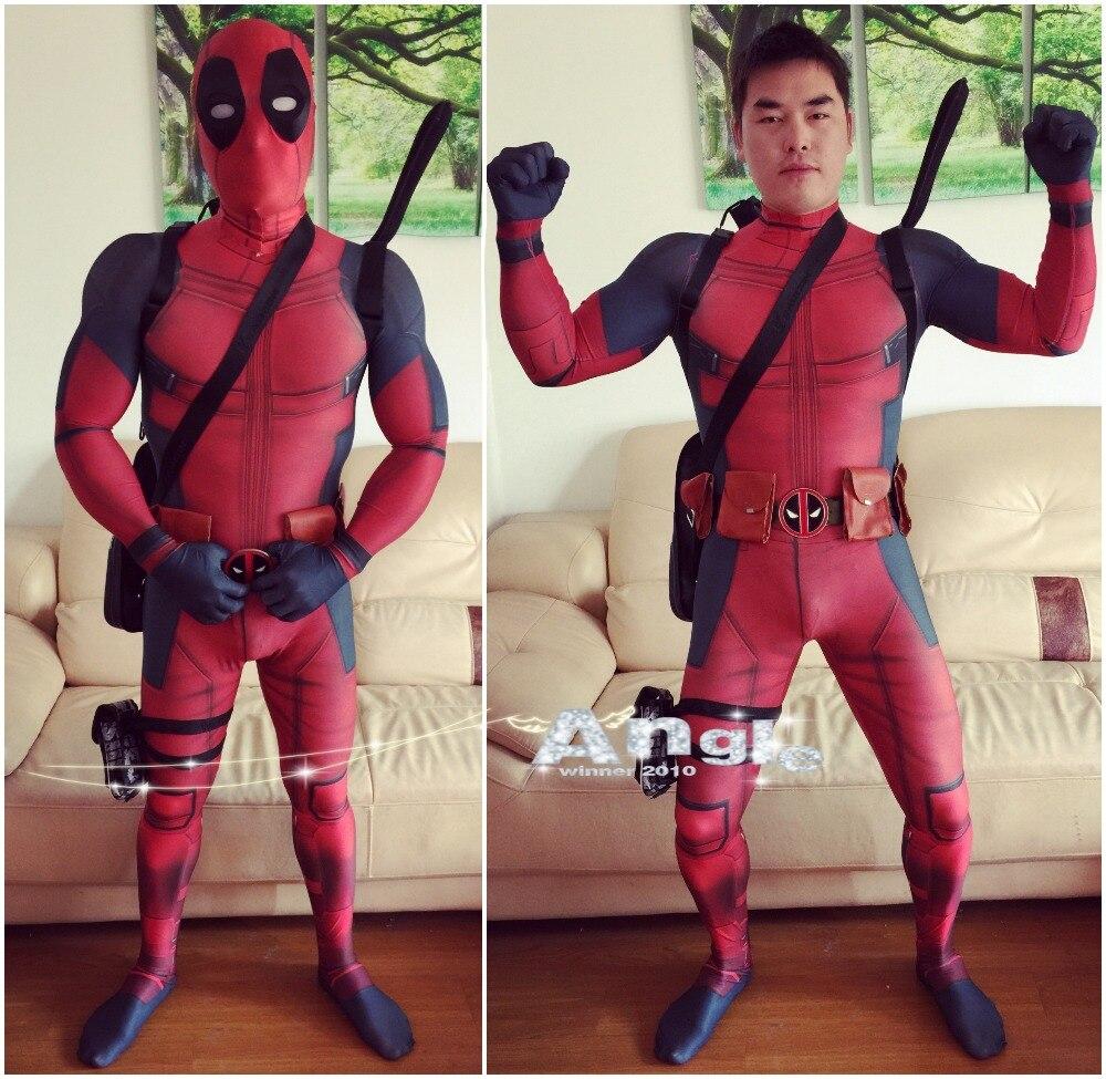 Горячая Marvel косплэй полный средства ухода за кожей Дэдпул костюм для взрослых цифровой печати костюм из лайкры взрослых для мужчин женщи
