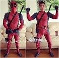 Hot Marvel Cosplay Deadpool Traje Adulto de Impresión Digital de Cuerpo Completo Lycra Traje adulto hombres mujeres accerssories de Halloween