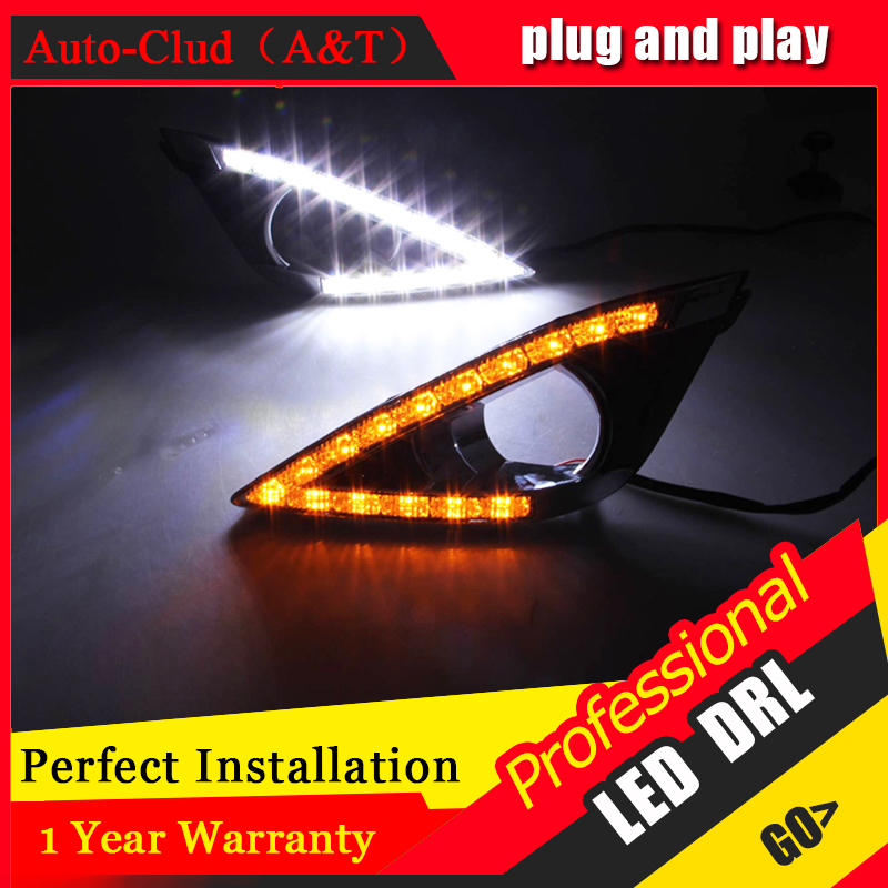 Auto Clud car styling For Toyota corolla EX LED DRL For corolla EX led fog lamps daytime running light High brightness guide LED auto clud car styling for toyota highlander led drl for highlander high brightness guide led drl led fog lamps daytime running l