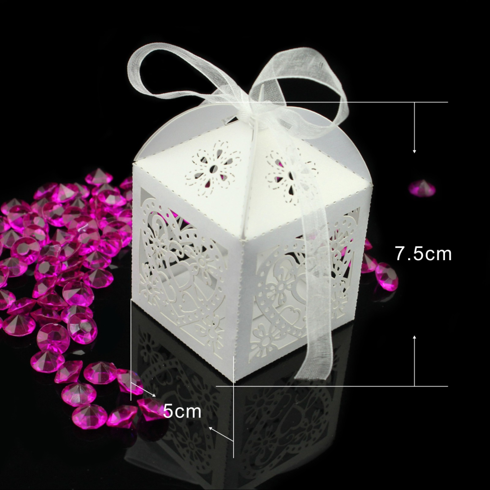 10pcs pack love heart candy boxes for party wedding hollow for Baby shower decoration packs