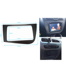 DOUBLE DIN Car DVD FRAME Radio Fascia for SEAT Leon (LHD) stereo face plate frame panel dash mount kit adapter trim Bezel fascia цена