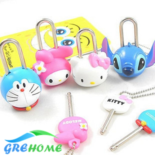 Furniture Lower Price with Nosii Mini Padlock Luggage Suitcase Safety Lock Kids Intelligence Toy With 2 Keys Furniture Tool