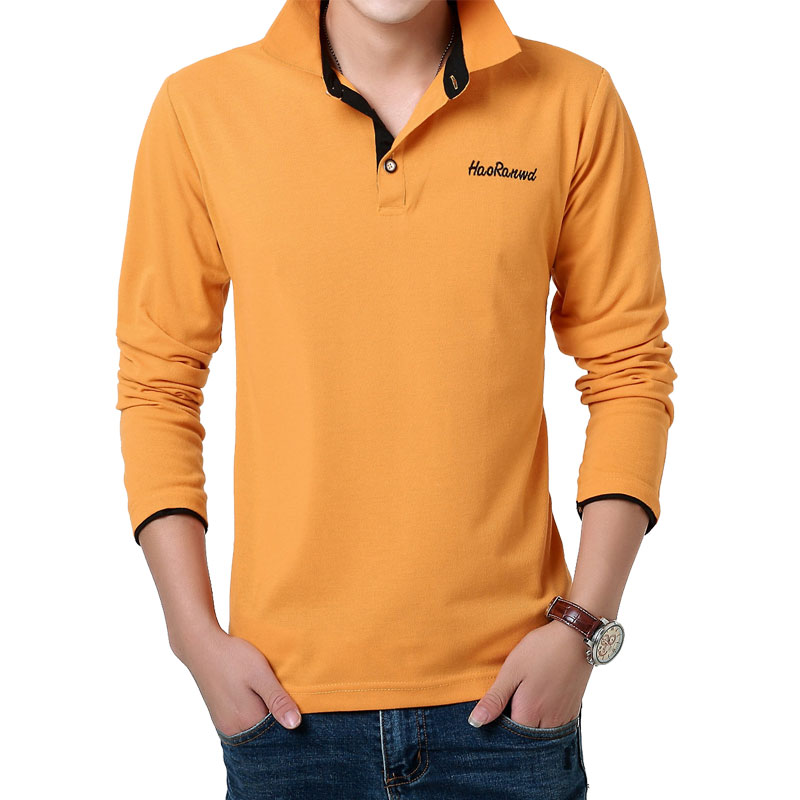 MarKyi 2017 Mode Bordir Logo Mens Polo Shirts Merek 23 Warna Kasual - Pakaian Pria - Foto 6