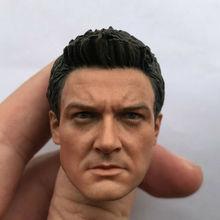 Custom Jeremy Reina Head Sculpt 1/6 Scale Hawk Eye6 Head for 12in Action figure hawk hkaw 103 1