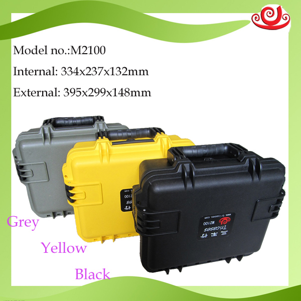 high quality waterproof safety seal equipment case toolbox safety camera box Instrument case with pre-cut foam lining 2100