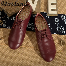 New 2016 Genuine cowhide pure handmade women flats British shallow mouth the ancient Zen literary mori girl casual shoes,4 Color