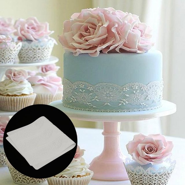 Silicone Fondant Cake Decorating Tools Lace Mat Silicone Mold Cake