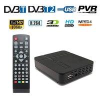 FTA Full HD 1080P Digital TV Box Terrestrial Receiver Antenna Tuner DVB T2 DVB T Convertor Set Top BOX USB PVR EPG Playback