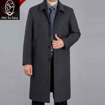 2017 new arrival winter men\'s long design coat loose casual male woolen overcoat thick fashion high quality plus size M-4XL - DISCOUNT ITEM  21 OFF Men\'s Clothing