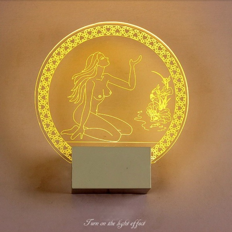 ФОТО Indoor beauty LED wall lamp bed room night light 220V 8W