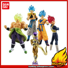 "Original Bandai Gashapon FIGURA de ALTO GRAU REAL Brinquedo 01-Conjunto Completo 5 PCS Broly PVC Vegeta Gogeta Goku Freeza ""Dragon Ball SUPER""(China)"