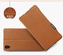 icarer Original litzhi Genuine Leather Case For Sony Xperia Z2 Luxury Magnet Wallet mobile Phone Cover caseWith Card Holder