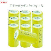 10pcs Sub C SC 22420 1.2V Batteries 1800mAh 22*22*42 Ni-MH Battery With an Extension Cord Processed into Tools