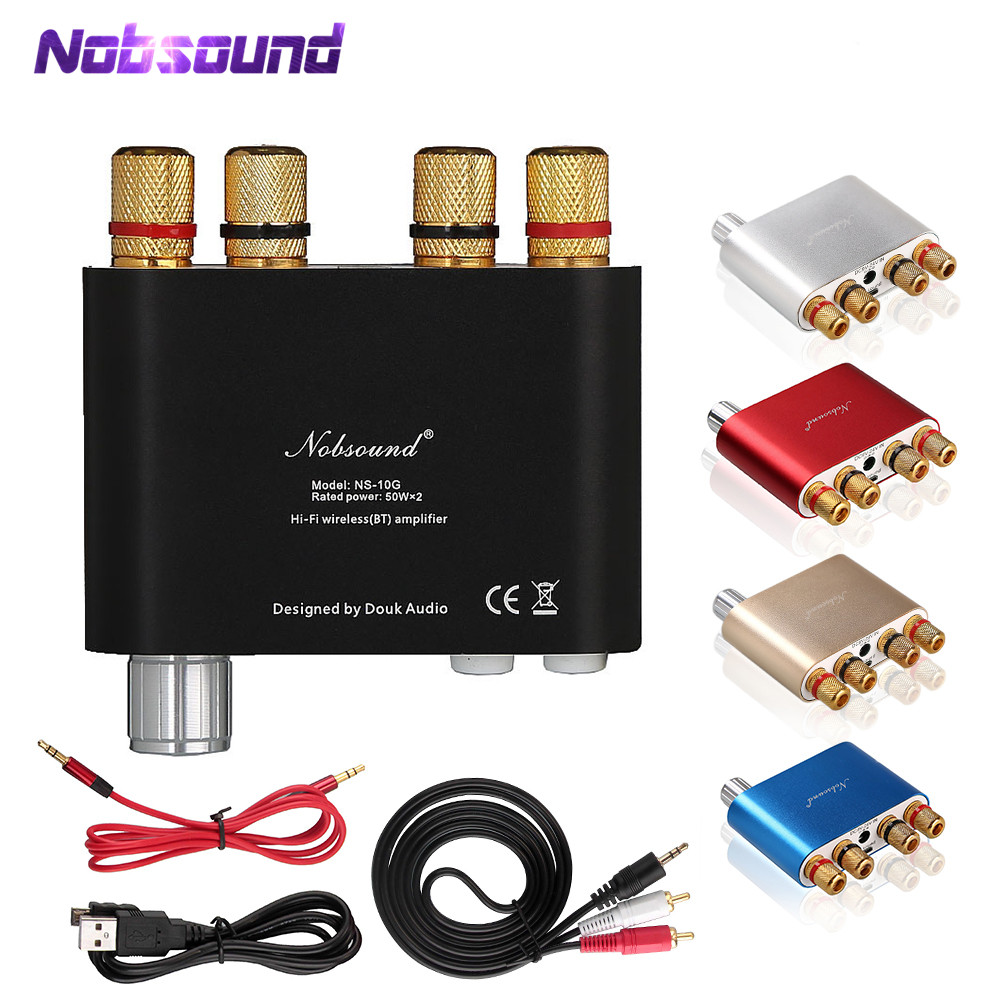 2018 Siste Nobsound NS-10G TPA3116 Bluetooth 4.0 Mini Digitalforsterker Stereo HiFi Power Amp 50W * 2 GRATIS SHIPPING