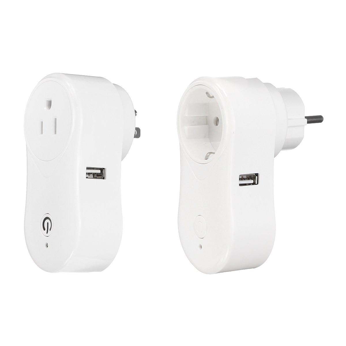 NEW WiFi Wireless Remote Control Smart Switch Socket Outlet Plug For Amazon Alexa Building Automation 3 pack wireless remote control power outlet switch plug socket infrared heater panel wireless socket
