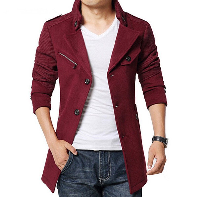 Popular Slim Pea Coat-Buy Cheap Slim Pea Coat lots from China Slim ...