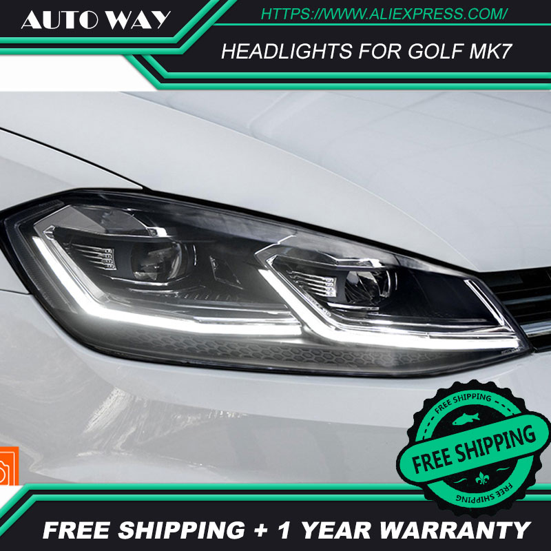 Image 5 - Car Styling Head Lamp for VW Golf7 Headlights Golf 7 MK7 MK7.5 2013 2017 LED Headlight H7 D2H Hid Angel Eye Bi Xenon Beam-in Car Light Assembly from Automobiles & Motorcycles