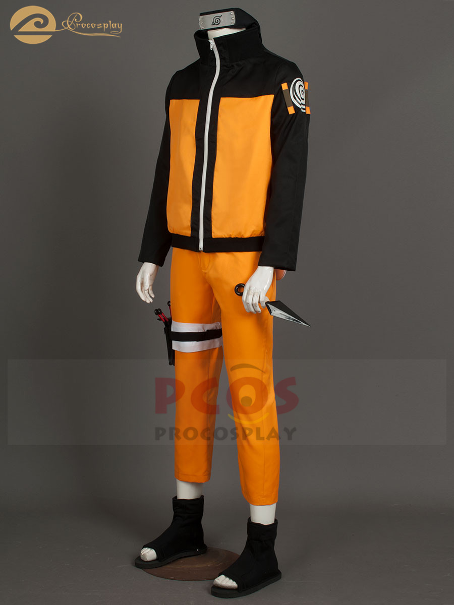Top Deluxe Set~ Naruto Shippuden Uzumaki Cosplay Costume mp000059 1