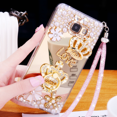 on sale b1c5b cea09 US $2.99 |Luxury Girl Soft TPU Mirror Diamond Cover Case For Samsung Galaxy  S8 S9 S10 Plus Note 9 8 J5 J7 J4 J6 Plus A5 A7 A8 Plus A9 2018-in ...