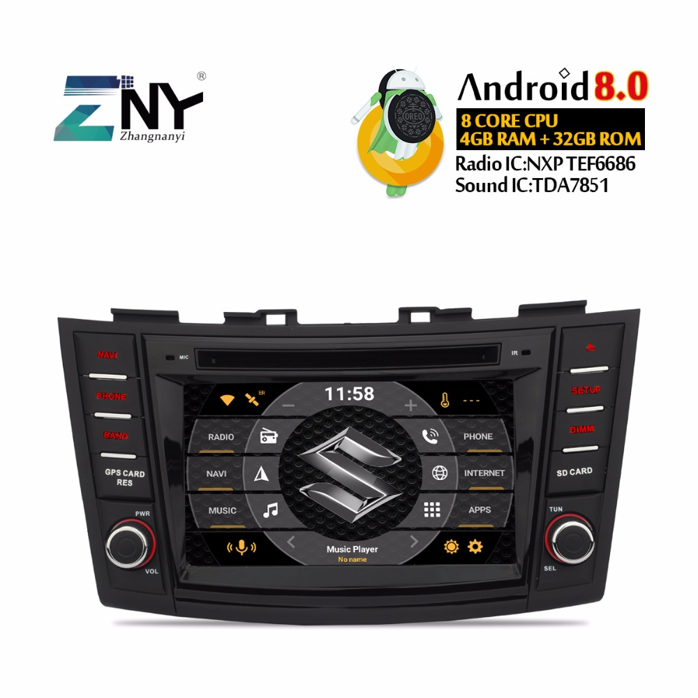 Car Electronics Car Intelligent System 100% Quality 10.1 Inch Android 8.1 Full Touch Screen Car Multimedia System For Suzuki Swift 2004-2010 Car Gps Radio Navigation