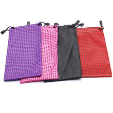 Optical Glasses Carry Bag Cloth Dust Pouch Pouches 18 * 9cm For Sunglasses Waterproof Dustproof Sunglasses Pouch Random Color(China)