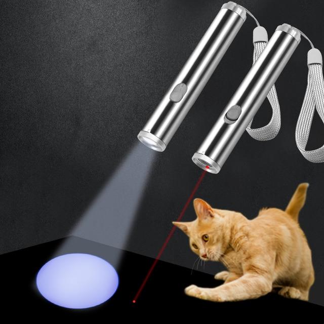 Cat Chaser Giocattolo Interattivo LED Light Pointer Gatto Laser Giocattolo creat