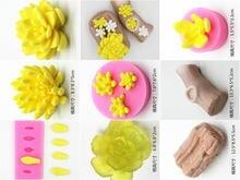 Atacado/varejo, frete grátis, 1 pçs 3d estéreo flor carnuda açúcar diy molde de silicone chocolate molde