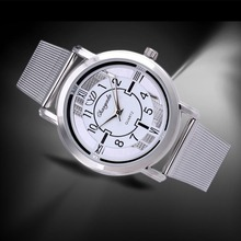 Vente chaude De Luxe Marque Montre Transparent Cadran En Acier Plein Quartz Montre Femmes Mode Argent Montres Heure Horloge relogio feminino