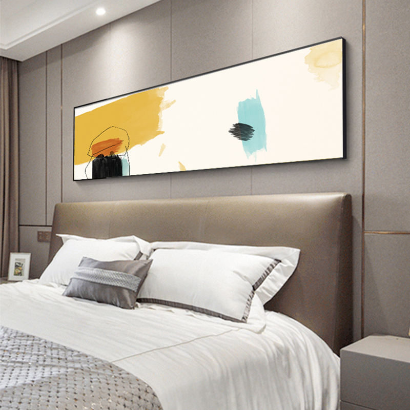 Fashion Beautiful Blue Yellow Wall Art Nordic Pictures Abstract Canvas Art Banner Poster Print For Living Room Bedroom Tableaux Painting Calligraphy Aliexpress