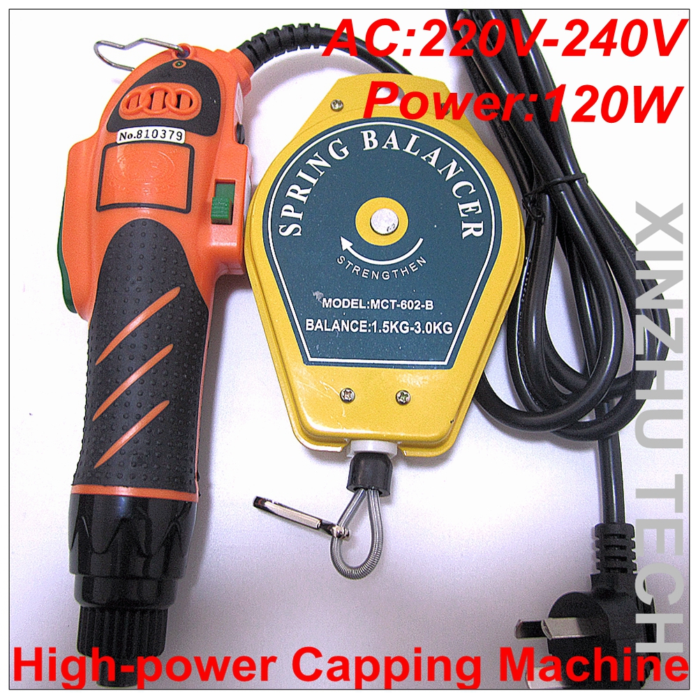 High-power Capping Machine Precsion Screwdriver Capper With 200-240V For 10-50mm Cap With Screw Driver 30 sets best cap making machinery handheld electric capping machine screw machine easy operation hand capper 10 50mm