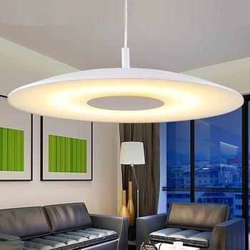 modern led pendant lights 24w acryl brief fashion white Bedroom lamparas colgantes pendientes Home Decoration Lamp