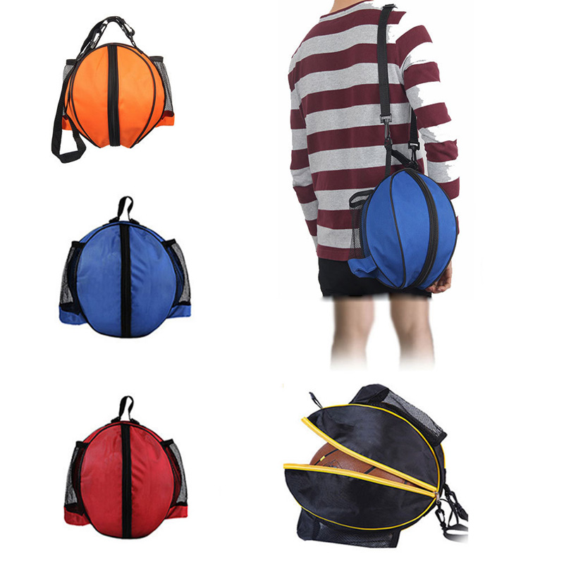 Outdoor Sports Shoulder Soccer Ball Bags Kids Adults Football Volleyball Basketball Round Bags Sport Training Equipment