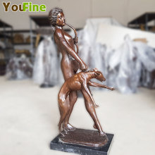 figure statue sculpted the moon Artemis goddess of hunting Sculpture furnishing articles decorations